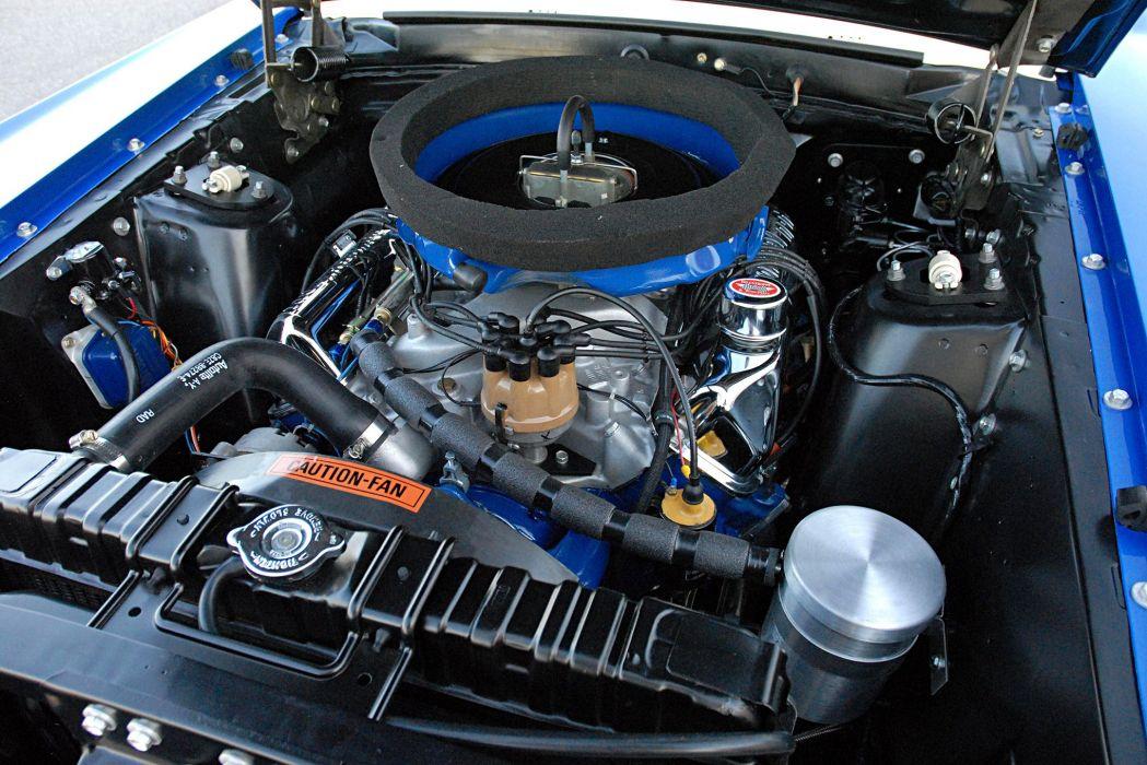 1969 Ford Mustang Cobra Jet cars blue drag wallpaper