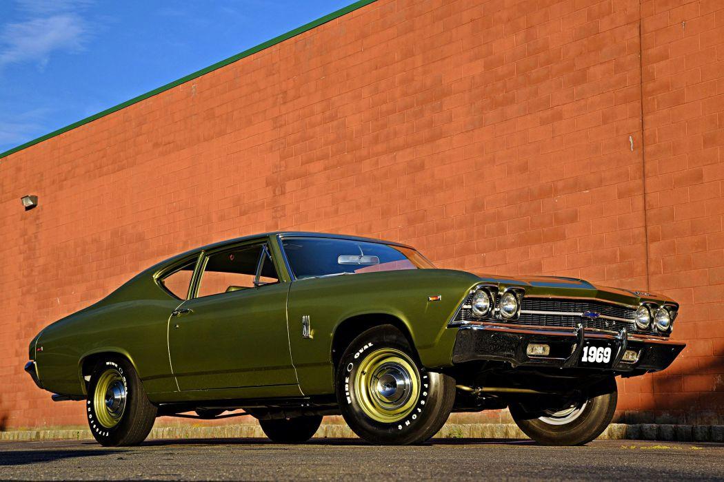 1969 Chevrolet Chevelle 300 Deluxe cars green wallpaper