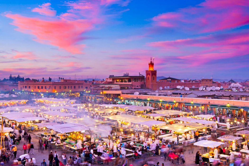 Marrakech mercado marruecos africa wallpaper