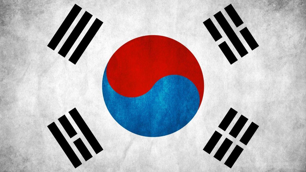 bandera corea del sur asia wallpaper