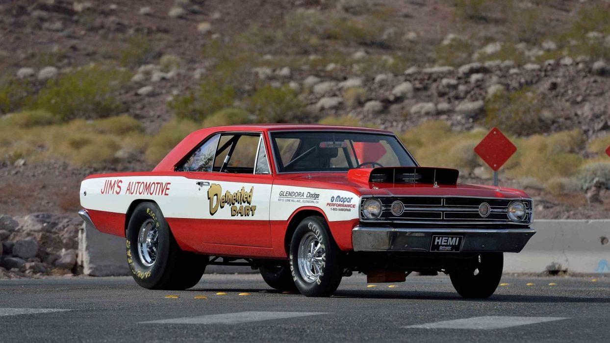 1968 DODGE HEMI DART cars SUPER STOCK wallpaper