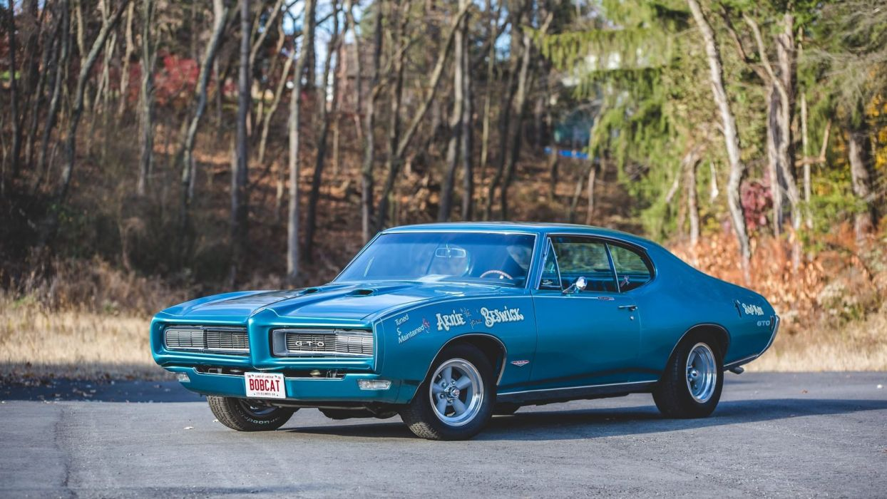 1968 PONTIAC ROYAL BOBCAT cars blue GTO wallpaper