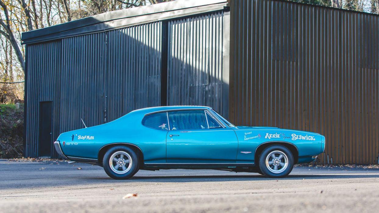 1968 PONTIAC ROYAL BOBCAT cars blue GTO wallpaper