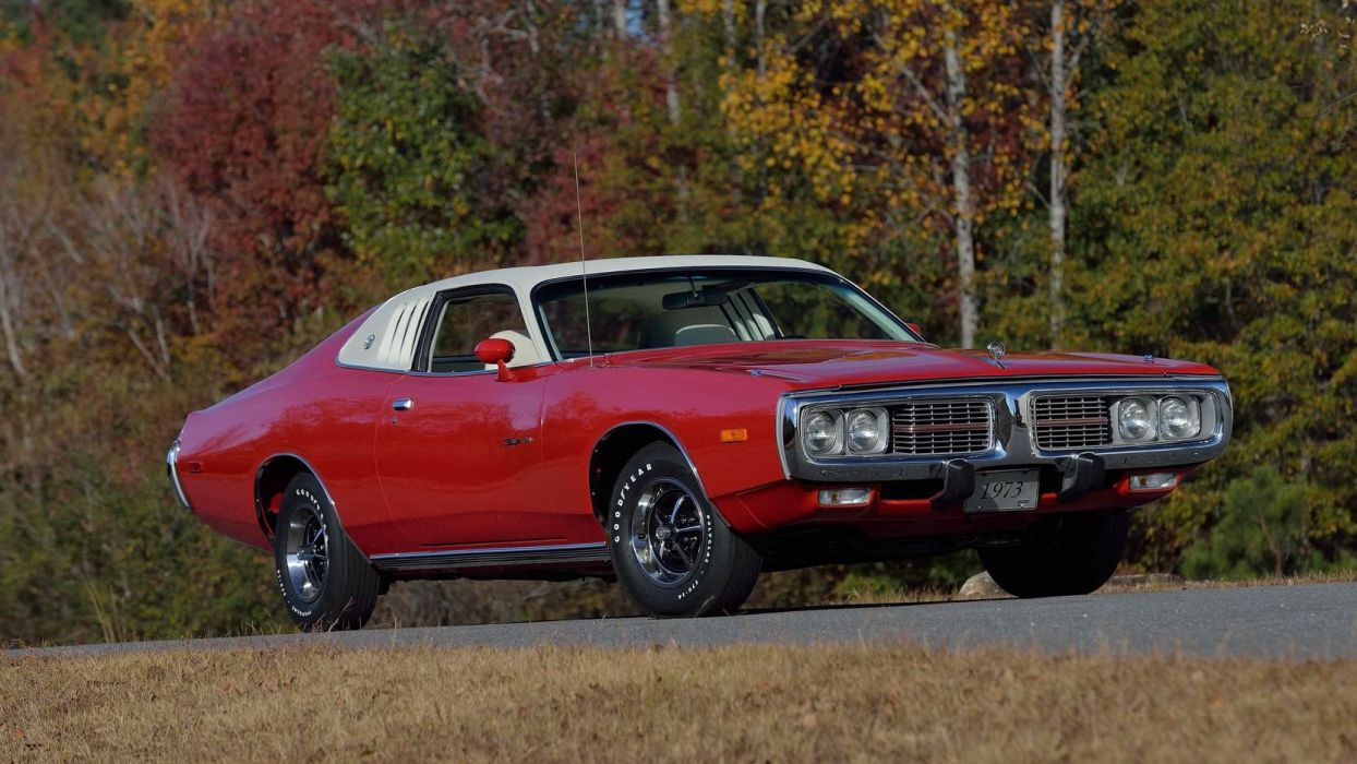 1973 DODGE CHARGER (SE) BROUGHAM cars red wallpaper