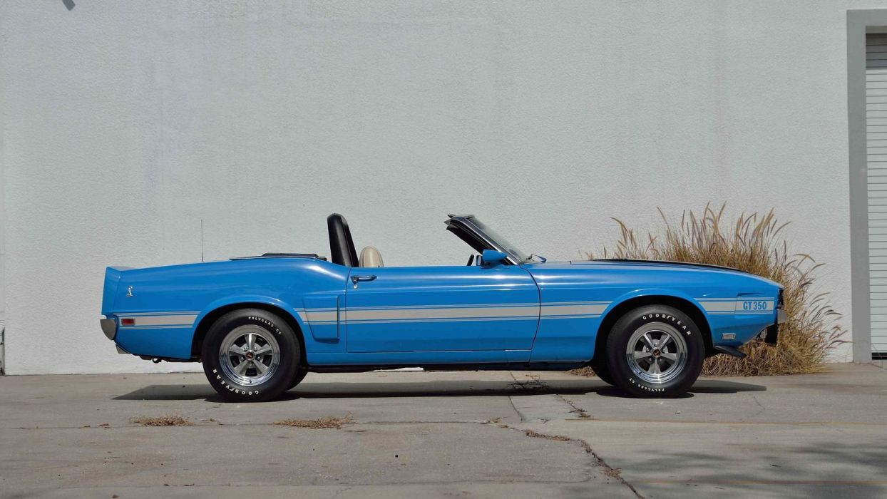 1970 SHELBY GT350 CONVERTIBLE cars blue wallpaper