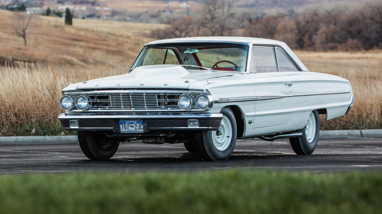 1964 FORD GALAXIE LIGHTWEIGHT R-Code cars white 427 wallpaper