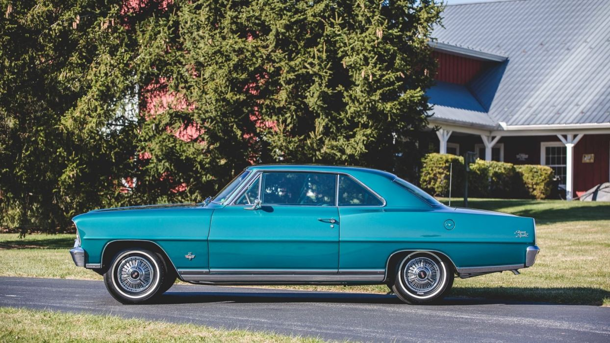 1966 CHEVROLET NOVA (SS) L79 327 cars blue wallpaper