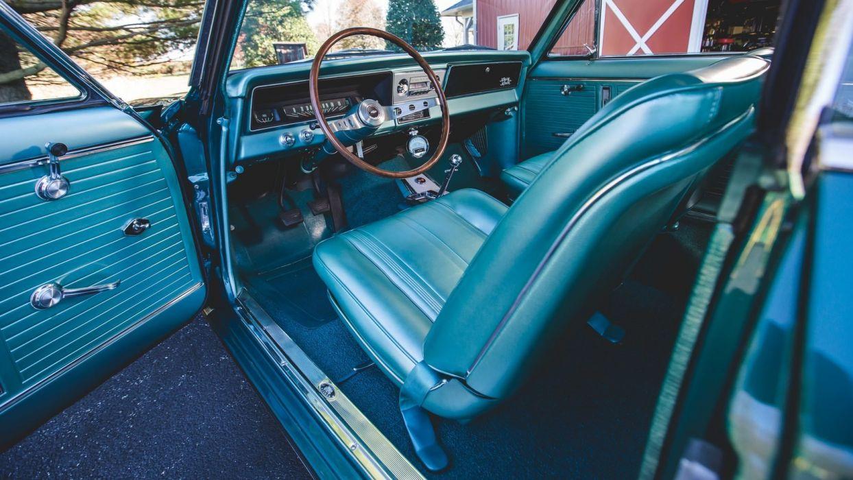 1966 CHEVROLET NOVA (SS) L79 327 cars blue wallpaper