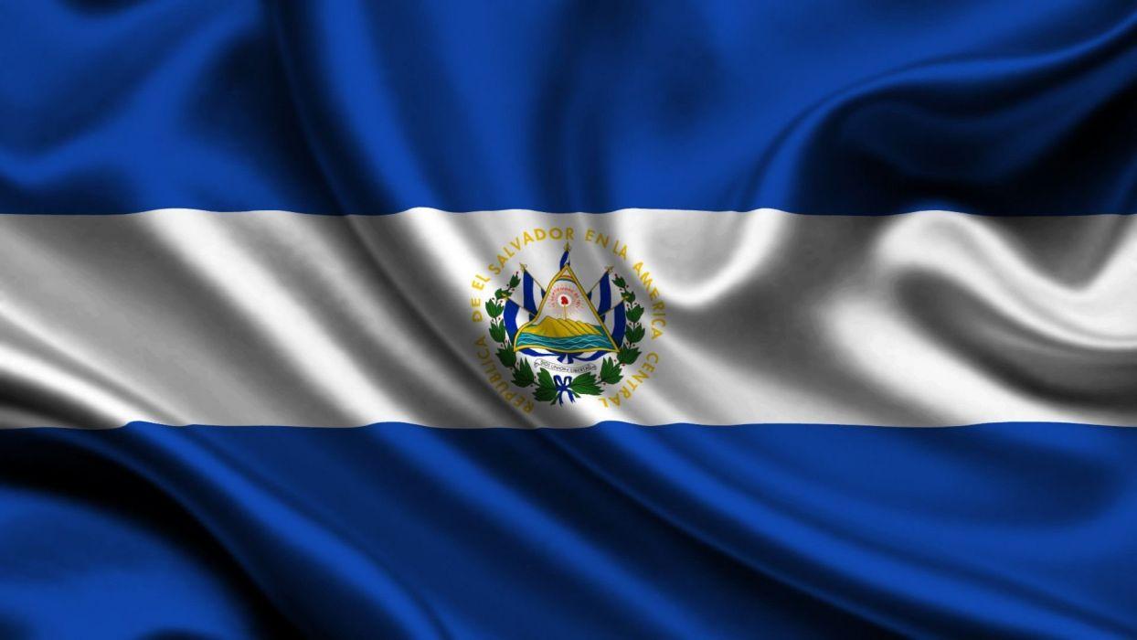 bandera el salvador centro america wallpaper