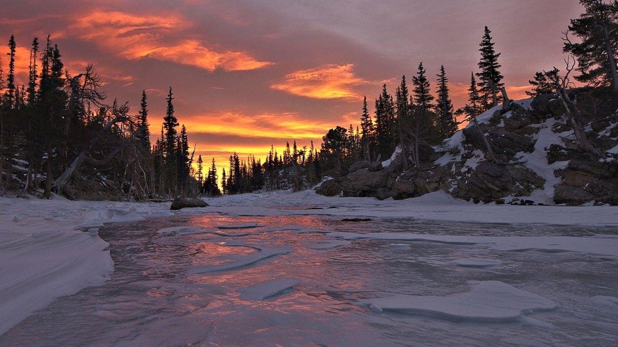 River Sunset wallpaper