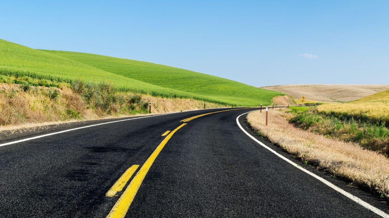 carretera curva prado wallpaper