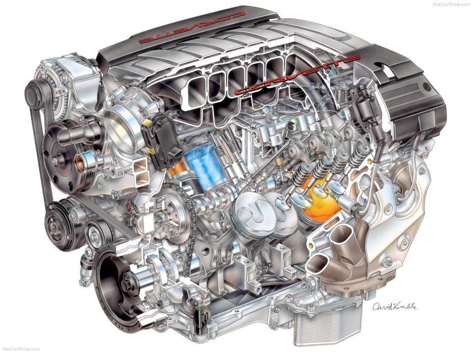 Chevrolet Corvette C7 Stingray Cutaway wallpaper