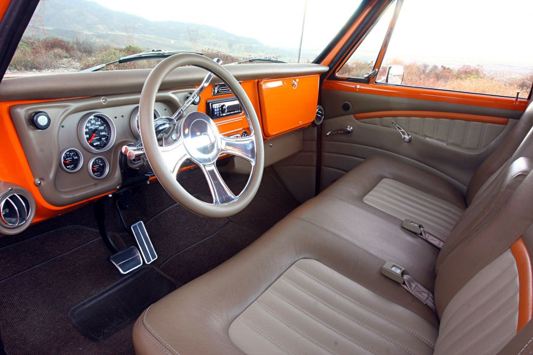 1972 Chevy Cheyenne pickup truck orange wallpaper