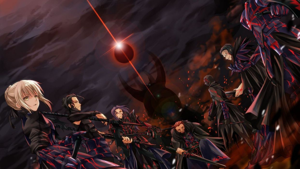 saber alter anime series fate stay night zero characters group  wallpaper