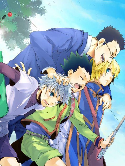 hunter x hunter anime series characters group  wallpaper