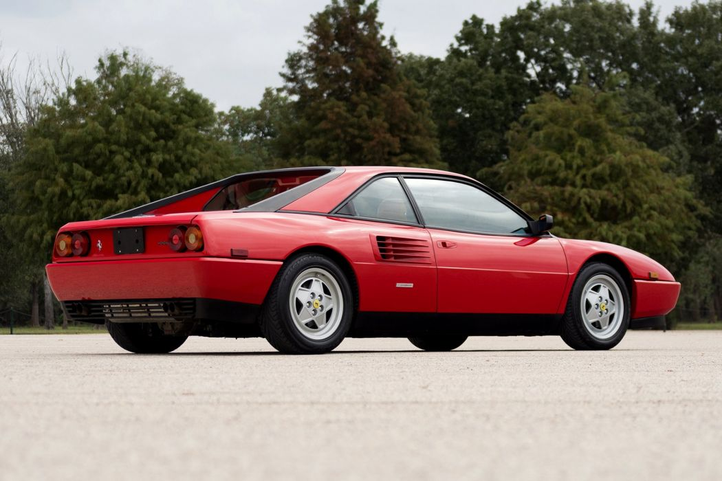 Ferrari Mondial (T) us-version cars red 1989 wallpaper