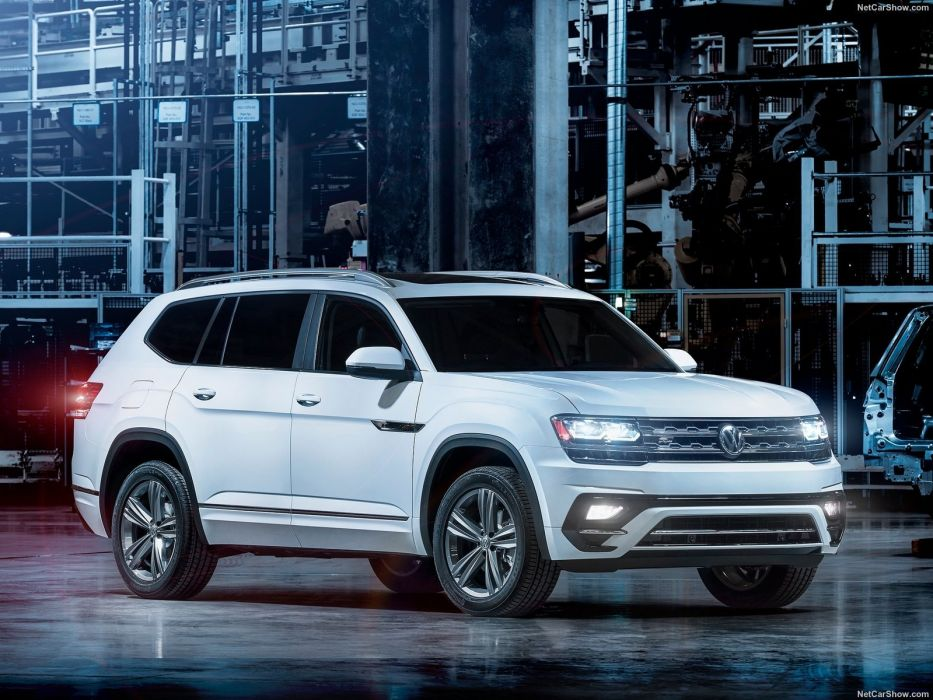 Volkswagen Atlas R-Line cars suv 2017 wallpaper