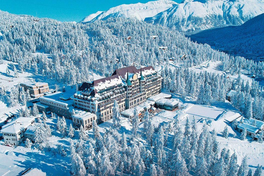 Hotel in St Moritz Switzerland wallpaper