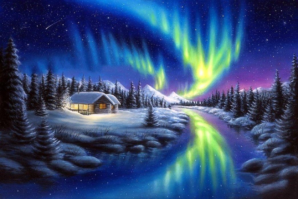 Make a Wish - Northern Lights wallpaper