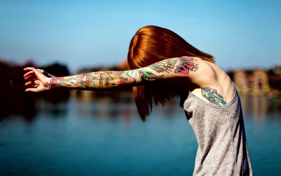 pelirroja tatuajes mujer wallpaper
