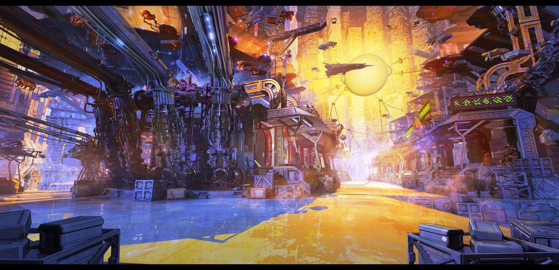 ArseniXC Science Fiction Concept Art Artwork City Futuristic Technology Space Fantasy Art Cityscape Spaceship Machine Building wallpaper