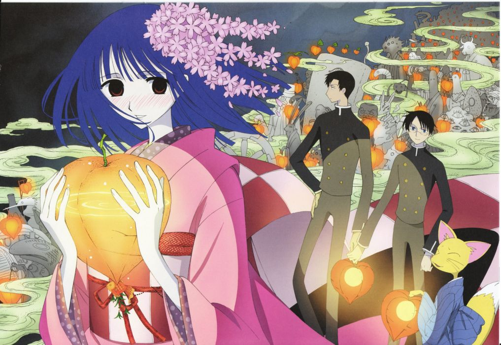 anime xxxHOLiC Series OVA Kimihiro Watanuki Character Zashiki Warashi (xxxHOLiC) Character wallpaper