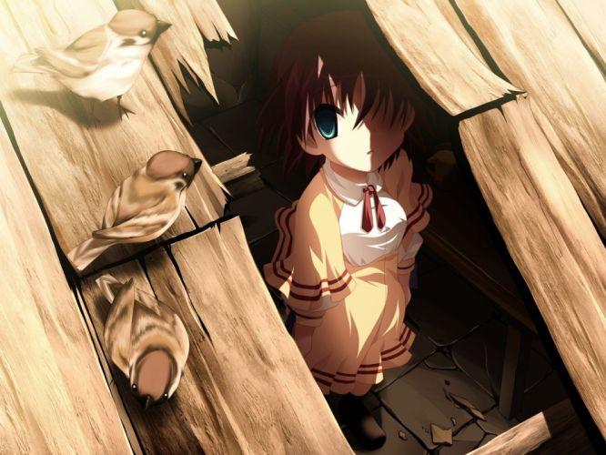 anime Hiding School Uniform schoolgirls wallpaper