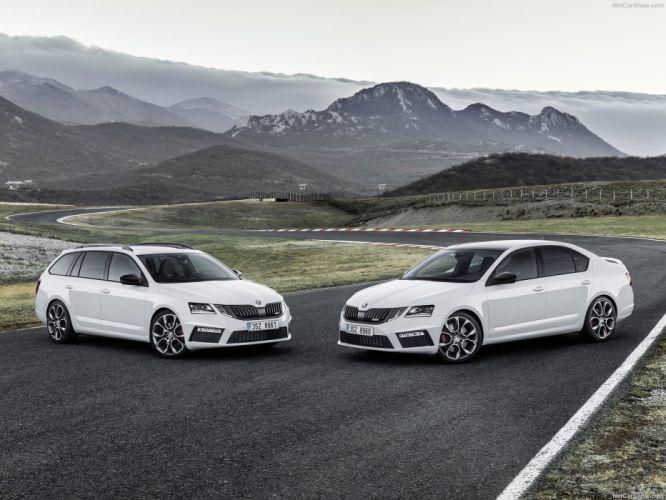 2017 Skoda Octavia Combi (RS) cars wagon white wallpaper