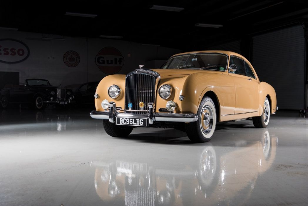 Bentley (S1) Continental Sports Saloon Mulliner LHD cars classic 1956 wallpaper