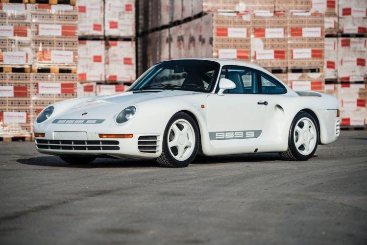 Porsche 959S cars white 1988 wallpaper