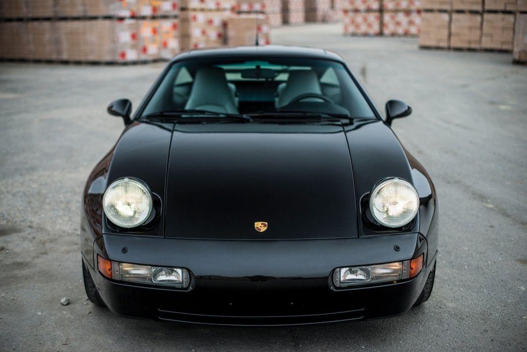 Porsche 928 GTS cars black 1991 wallpaper