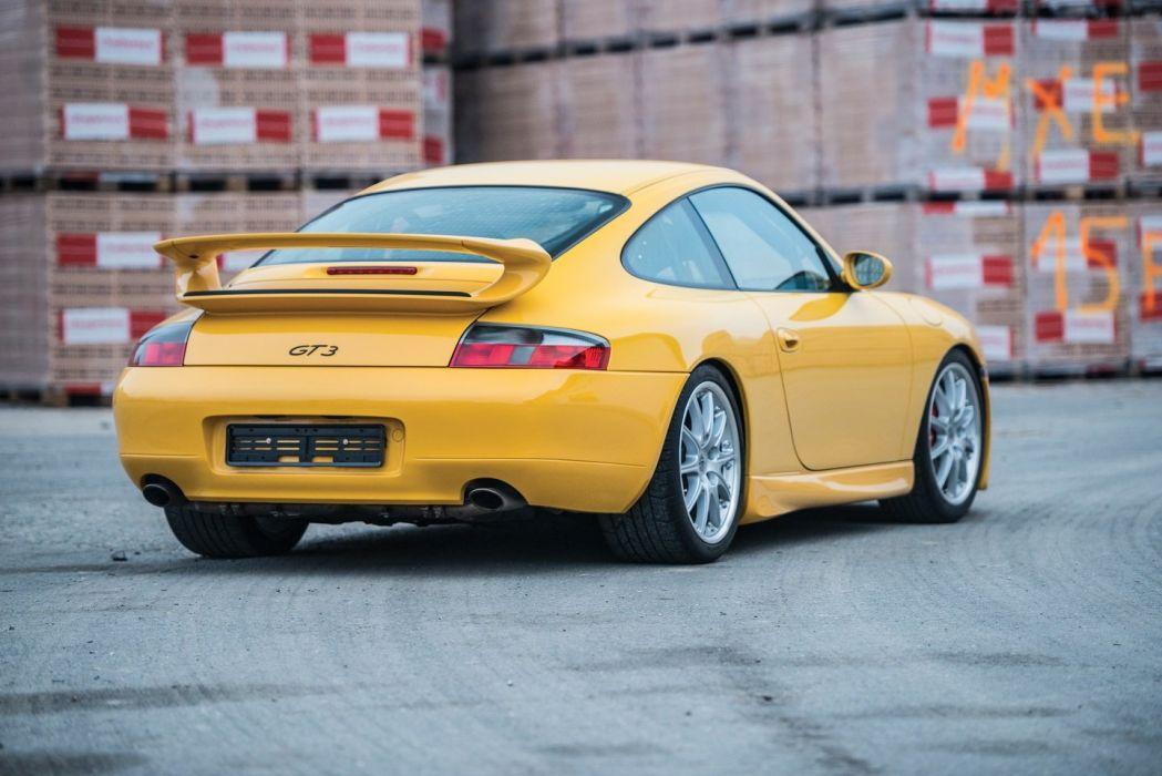 Porsche 911 GT3 Clubsport (996) cars yellow 2000 wallpaper