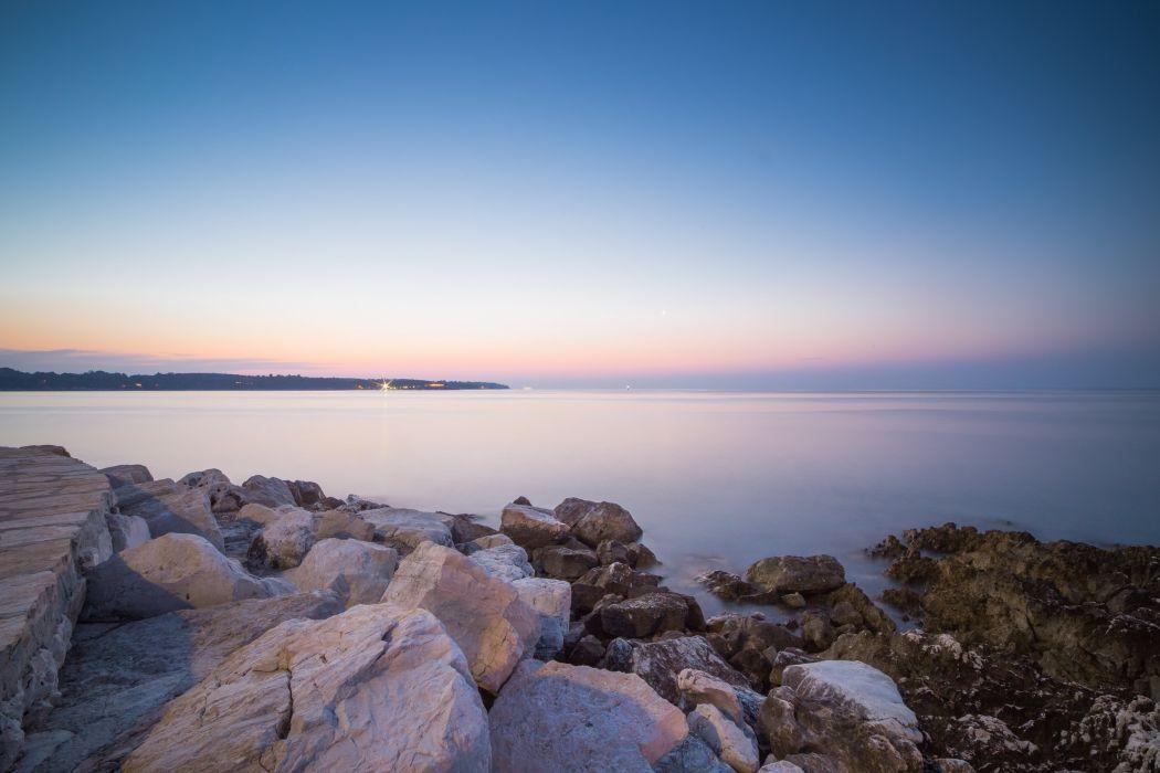 beautiful sunset over seaside rocks picjumbo  wallpaper