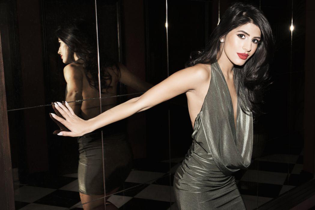 jasmin walia bollywood actress model girl beautiful brunette pretty cute beauty sexy hot pose face eyes hair lips smile figure indian  wallpaper