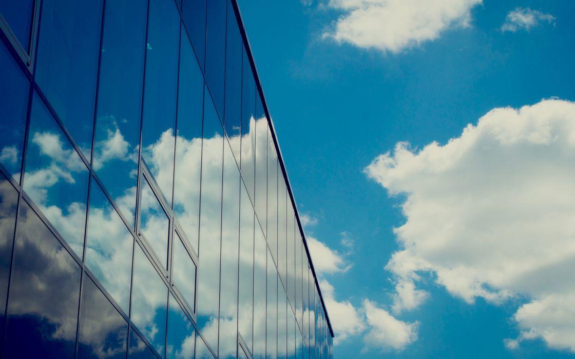 clouds sky window modern wallpaper