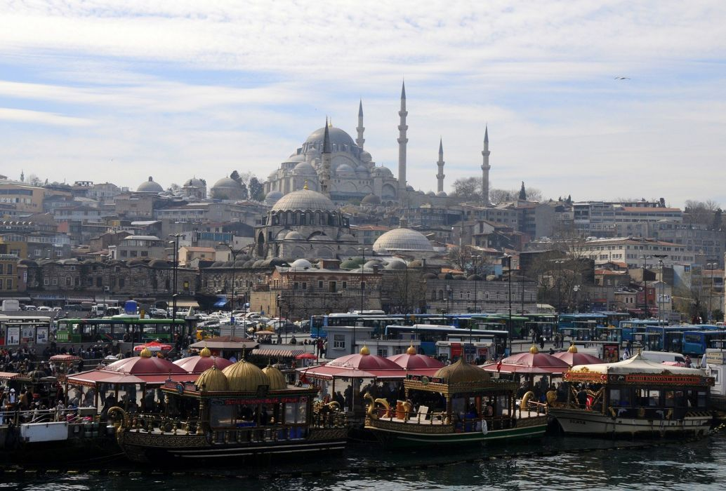 city istanbul turket sea  wallpaper