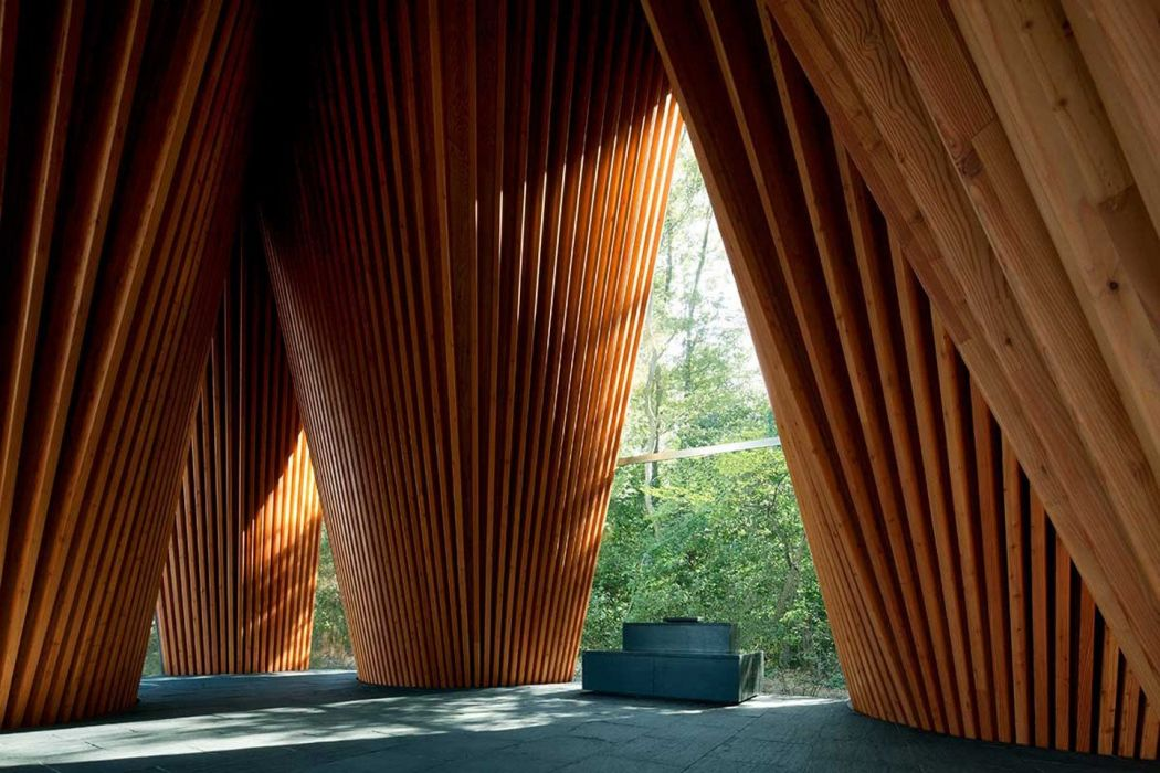 wood wooden surfaces church Japan interior sunlight trees empty Altar Modern Shrine wallpaper