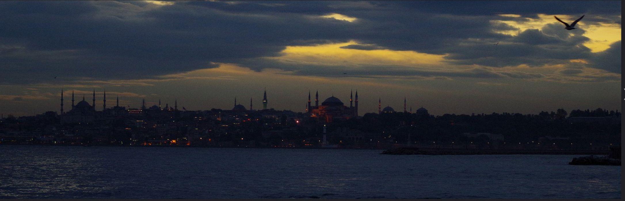 original turkey istanbul photo beauty city sky bird clouds night light wallpaper