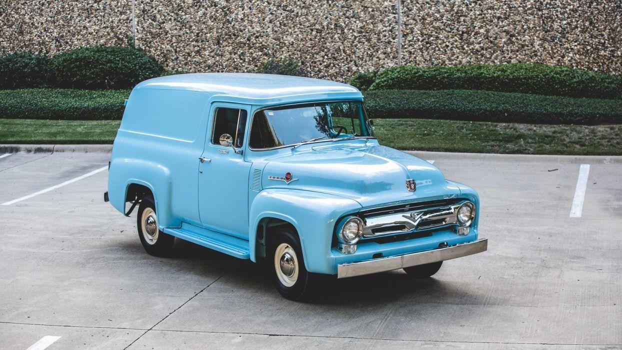 1956 Ford F-100 Custom Panel cars classic wallpaper