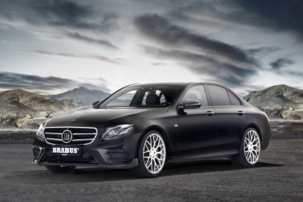 Brabus Mercedes E-Class cars black modified wallpaper