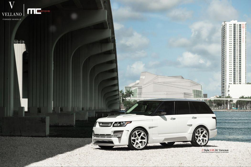 RANGE ROVER cars suv white Vellano wheels wallpaper