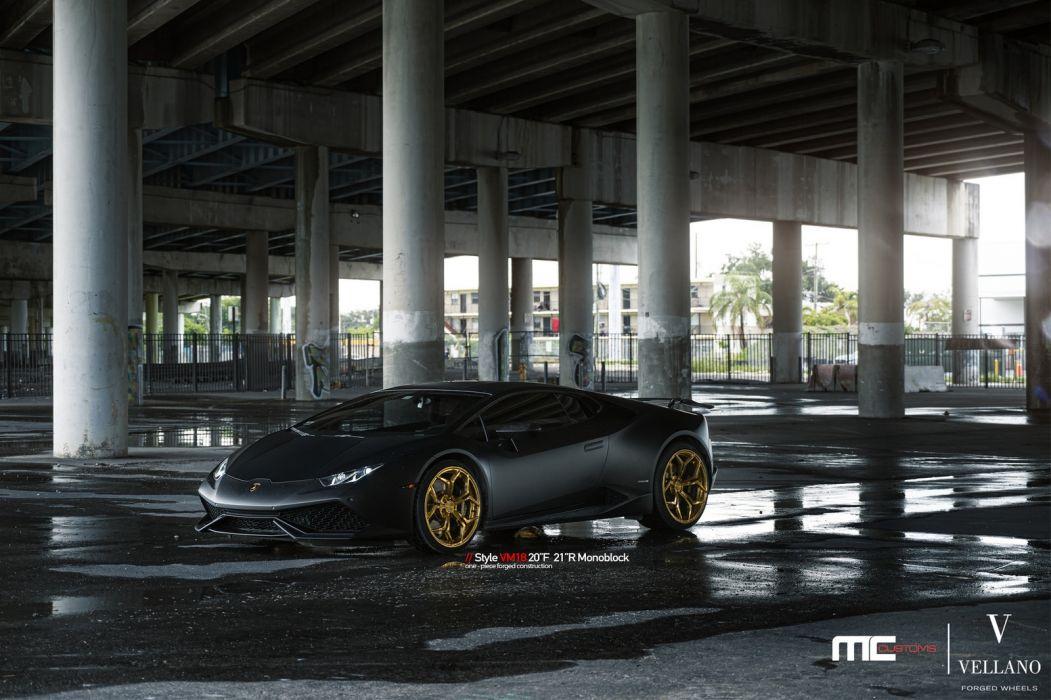 LAMBO HURACAN cars black vellano wheels wallpaper