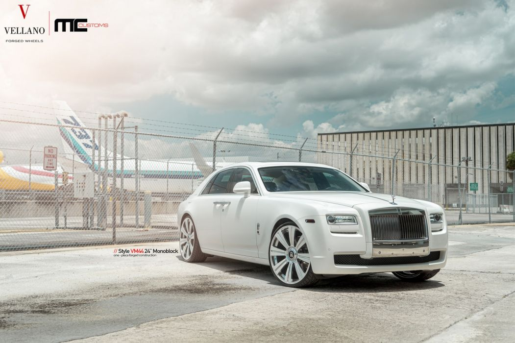rolls royce ghost cars white vellano wheels wallpaper