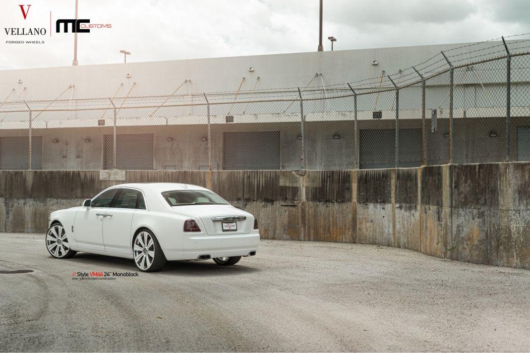 rolls royce ghost cars white vellano wheels wallpaper