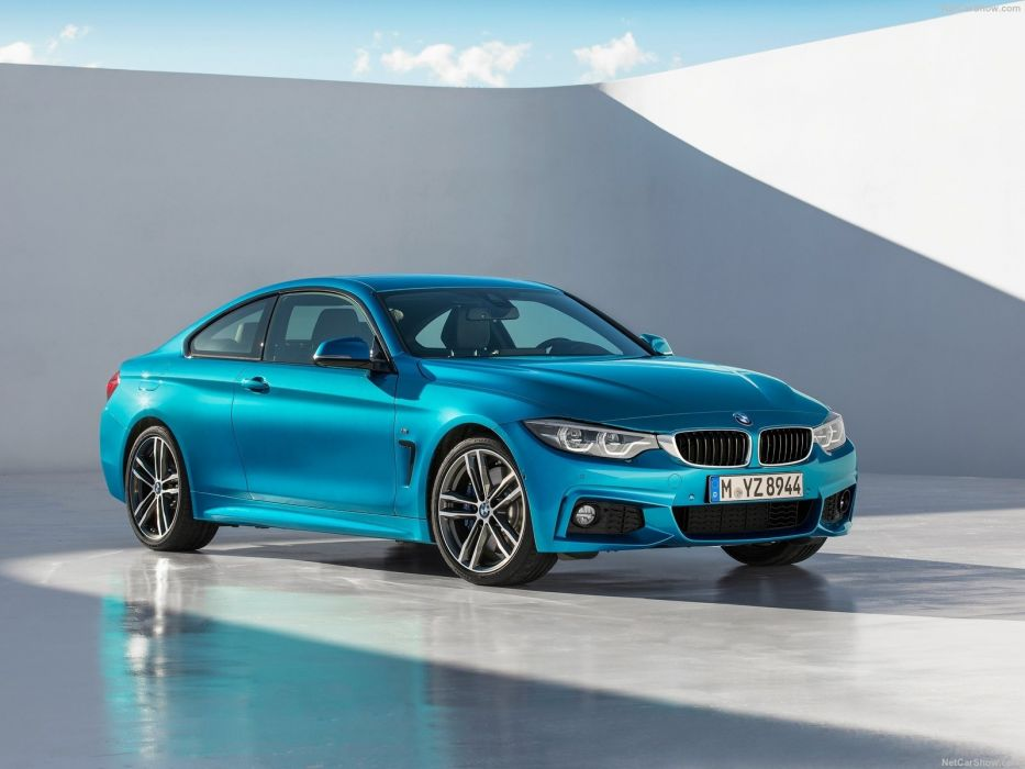 BMW 440i Coupe M-Sport (F32) cars blue 2017 wallpaper