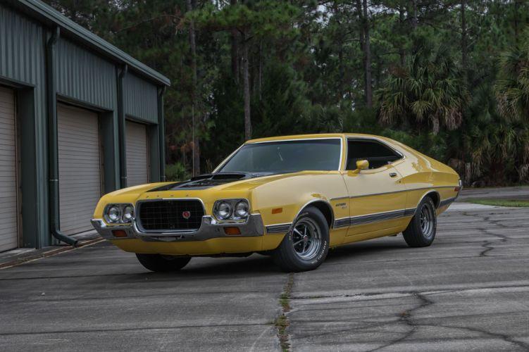 1972 FORD GRAN TORINO cars yellow wallpaper