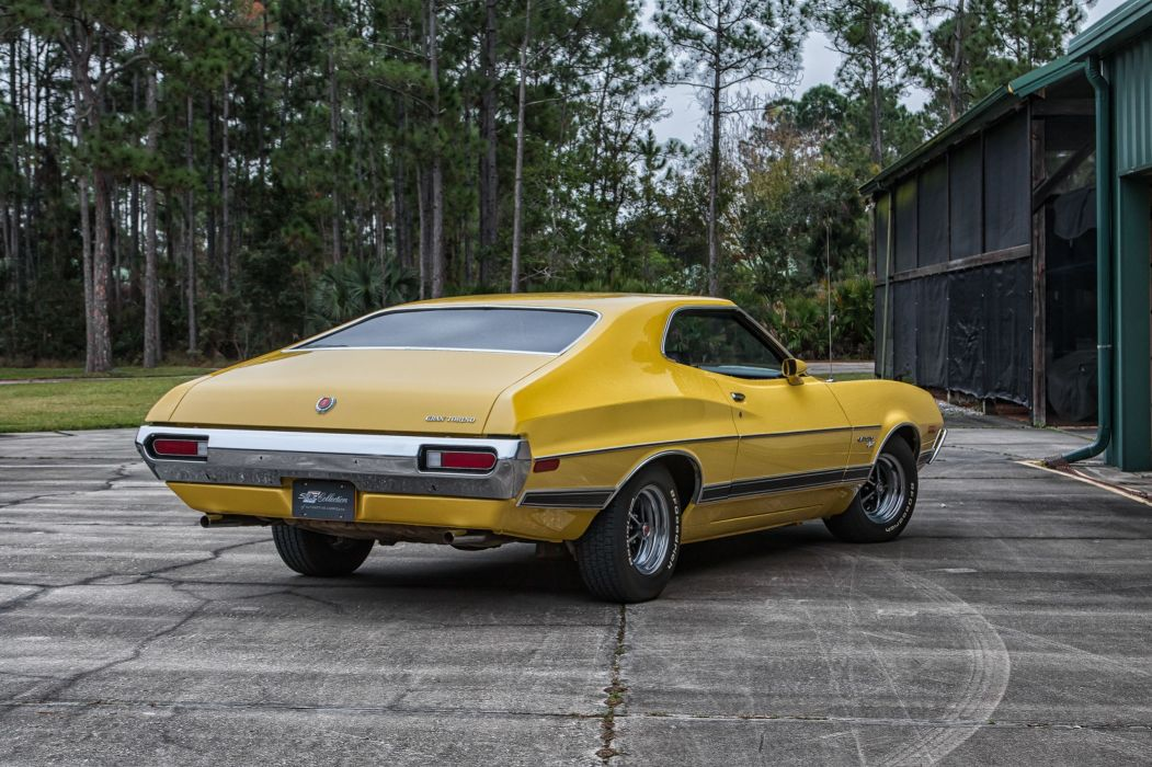 1972 FORD GRAN TORINO cars yellow wallpaper