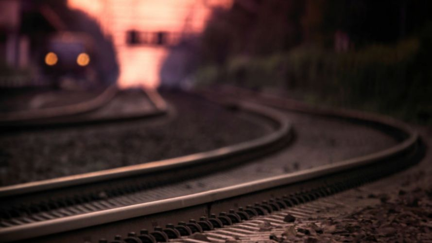 railroad photo paths Macro rails night sleepers wallpaper