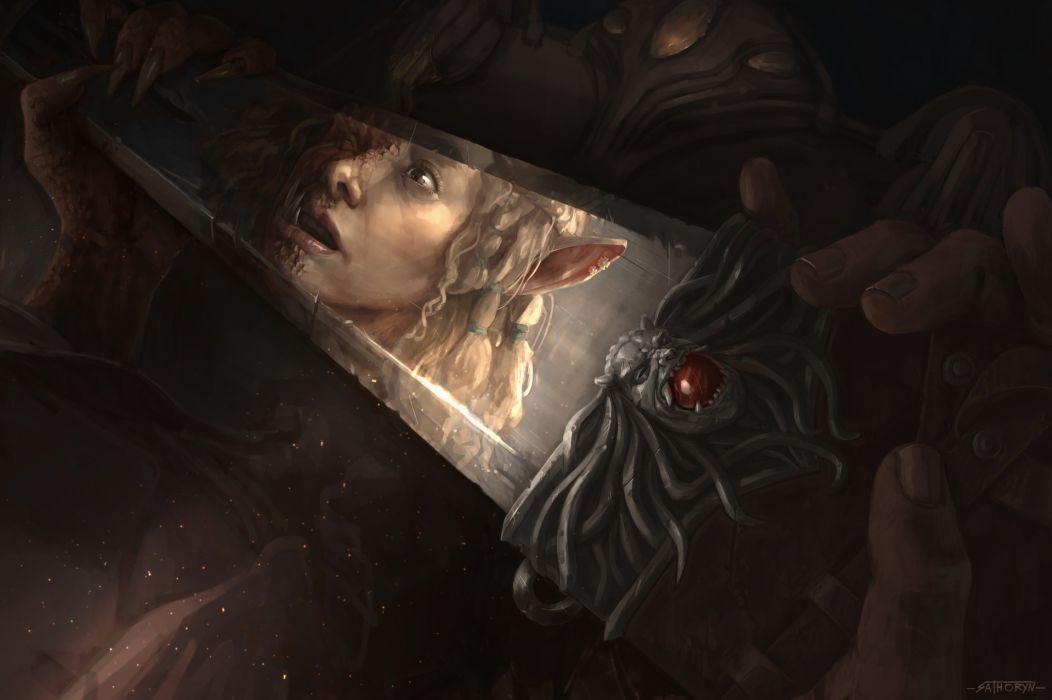 Women elf fantasy artistic wallpaper