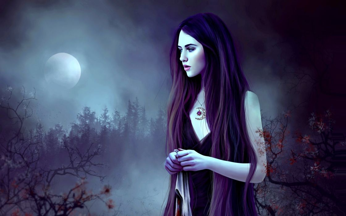 fantasy original artistic witch woman girl women female wallpaper
